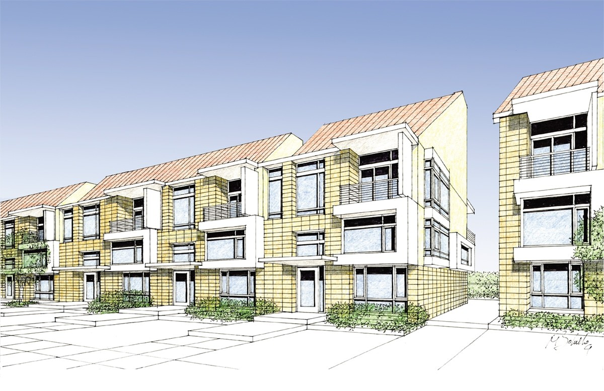 Townhomes Perspective 1
